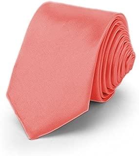 ™ TRENDY SKINNY TIE/Modische schmale dünne Krawatte in über 30 Farben Colors Party Business Schlips Handmade Smoking Anzug Unisex, Lachs, ca.140cm x 4,5cm