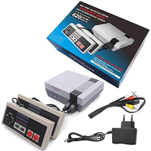 Aiboria Console de jeu rétro - Console de jeu vidéo portable classique - 620 jeux intégrés avec manettes NES Classic - Pour enfants, adultes