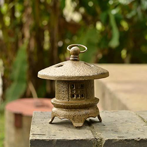 Estatuas para jardín Lámpara De Piedra Jardín Japonés Esculturas De Velas De Decoración Zen Chino Adornos Lámpara 15 * 19cm