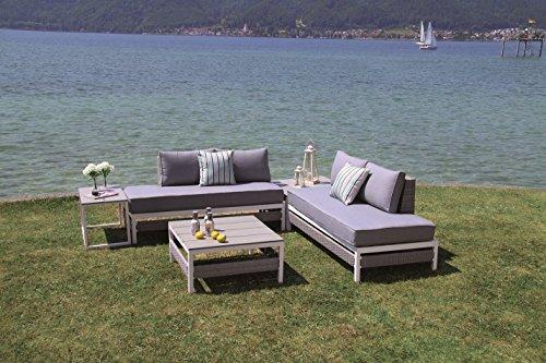 Forma Luxus Poly Rattan Lounge Woodrock inkl. wasserabweisender Kissen Outdoor Living