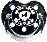 Born To Rock Unisex Schnuller schwarz 0-6 Monate Kunststoff Fun-Merch