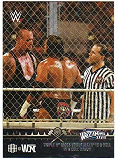 2015 Topps WWE Road to Wrestlemania Triple H Tribute #9 Faces Undertaker in a Hell in a Cell Match