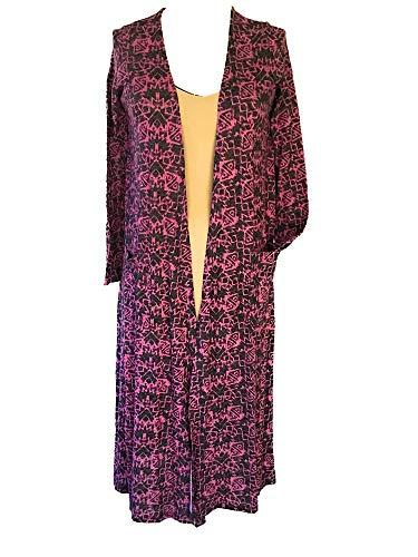 Womens LuLaRoe Sarah Cardigan Purple Patterned XSmall