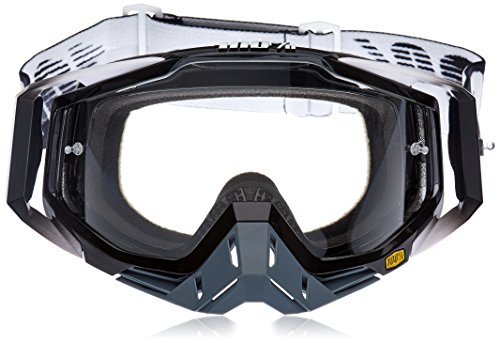 100 Percent RACECRAFT Goggle Abyss Black - Clear Lens