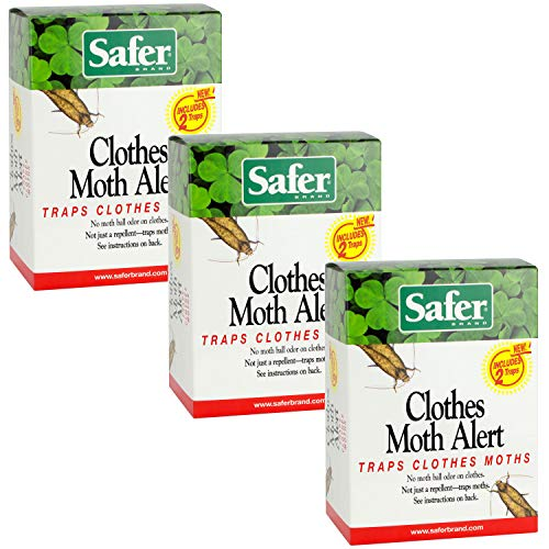 Safer 07270-AMAZ Clothes Moth Trap, 3 Pack (6