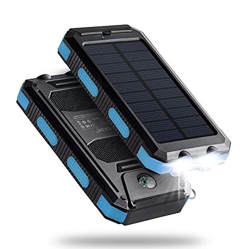 Solar Charger,10000mAh Solar Power Bank...