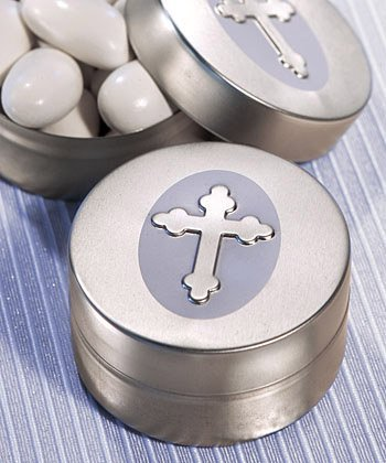 Silver Cross Design Mint Tin, 50