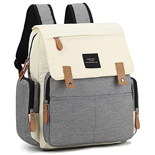Diaper Bag for 2 Kids/Twins, Cinkerr Large Backpack for Baby Boys/Girls, Portable Travel Mommy Bag with 3 Insulated Pockets, Baby Shower Gifts, Baby Registry Search Essentials for New Dads/Moms