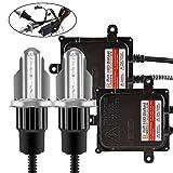 Chemini coche H4 HID Conversion Kit 55W Digital HID Lastre para bombillas de faros delanteros de automóviles (6000k - Xenon white) - 1 año de garantía