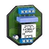 NOBILY El relé de control M-Puls para un motor almacena un comando de conducción durante 180 segundos de tiempo de autonomía. Relé de separación para motor de persiana.