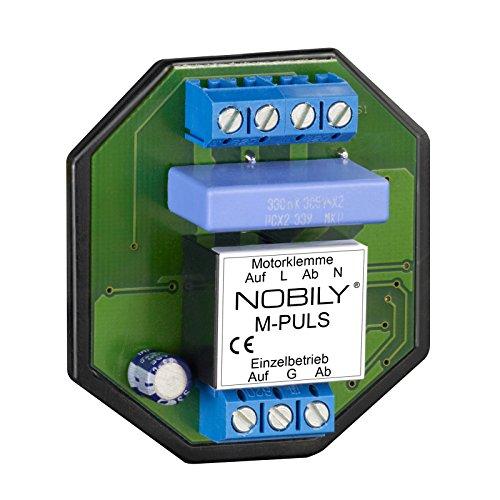 NOBILY Das Steuerrelais M-Puls für einen Motor speichert einen Fahrbefehl für 180 Sekunden Selbsthaltezeit - Trennrelais für Rolladenmotor