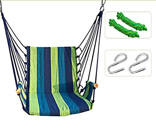 Ailin home- Chaise de jardin suspendue au hamac, siège pivotant pour tous les espaces intérieurs ou extérieurs avec coussin éponge confortable, charge: 150 kg ( Couleur : #8 )