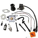 Carburateur houri + bobine d'allumage + Collecteur d'aspiration + Bougie d'allumage pour Stihl 021023025MS210Ms230MS250