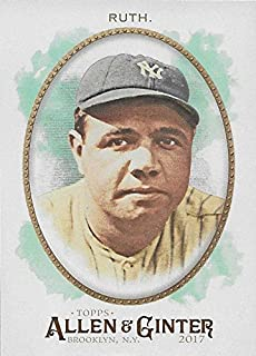 Babe Ruth 5 Card Gift Lot Including his 2017 Topps Allen and Ginter and Series Card Plus 4 Other Mint Cards of this New York Yankees and Red Sox Hall of Famer