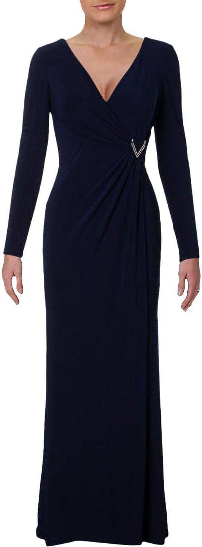 Lauren Ralph Lauren Womens Jillie Embellished FullLength Evening Dress