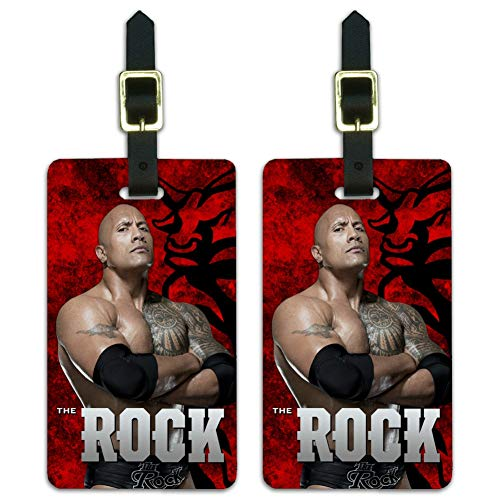 WWE The Rock Bull Luggage ID Tags Suitcase Carry-On Cards - Set of 2