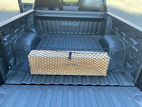 Truck Bed Envelope Style Trunk Mesh Cargo Net for Chevrolet Silverado WT LS LT LTZ 2013-2021