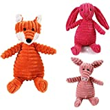 Kamenda Juguetes chirriantes para perros, lindos juguetes chirriados de conejo, juguete interactivo duradero resistente a la mordida, juguetes para cachorros sin Stuffless