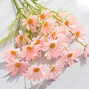 Silk Flower Arrangements Simulation Artificial Small Daisy Flower,Decorative Colourful Cosmos Decoration Props Simulation Flower,DIY Flower Bouquet for Women,Gift for Mother's Day,Valentine's Day,5PC