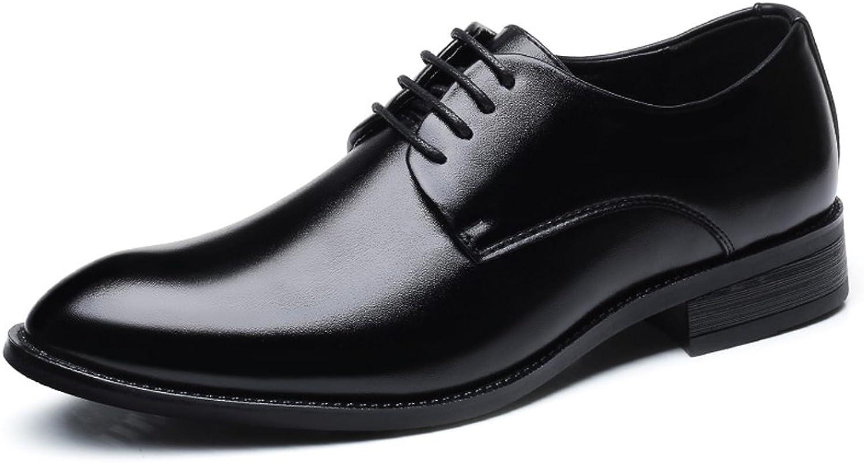 Easy Go Shopping Shopping Shopping Lederschuhe Formale Geschäfts-Schuhe der Männer Klassische Matte PU-Leder-Oberleder-Spitze zeichnete Oxfords  8e877a