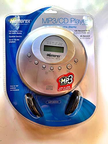 MP3 Portable CD Player, 2 Line Display