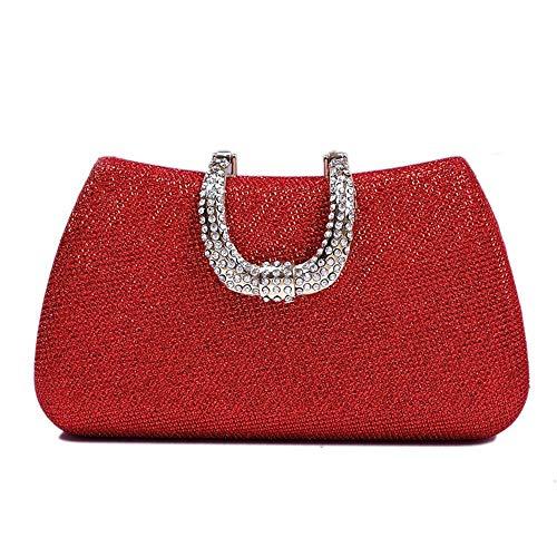 JTCT tas voor dames, modieus, party, avondtas, kristal, strass, wilde banket, solide kleur, bruidsmeisjesjurk, bruiloft, handtassen, schoudertas