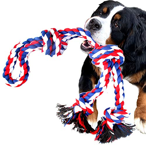 Youngever 40 Inch Indestructible Large Dog Rope Toys, Dog Chew Toys, Tug War Large Dog Toys, Dog Toys for Medium, Large, XL Large Aggressive Dogs