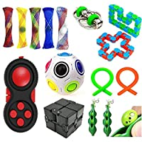 15ピースフィジット感覚玩具セット自閉症不安の救済ストレスポップバブルおもちゃ子供、十代の若者たち、大人、ADHD、自閉症感覚