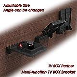 Accrie Electronics - Soporte de montaje plegable para Android TV Box Set Top Box Soporte de pared, estante de almacenamiento de espacio único