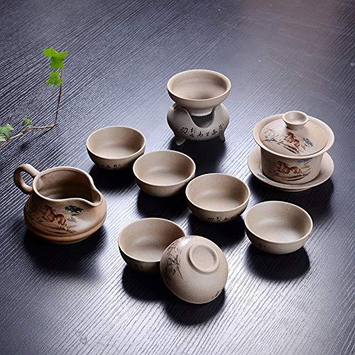 Ksnrang Regalo Personalizado Juego de té de gres Regalo de Apertura Tetera...