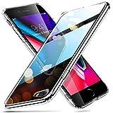 ESR Funda para iPhone 8/7 Cristal Templado [Imita la Parte Posterior del Vidrio del iPhone 8/7] [Resistente a los Arañazos] + Borde de Silicona Suave [Amortiguación] para iPhone 8/7 -Transparente