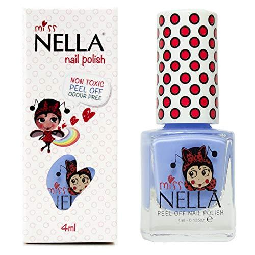 Miss Nella BLUE BELL- Spezieller Nagellack mit Glitzer für Kinder, abwaschen-formel, wasserbasiert...