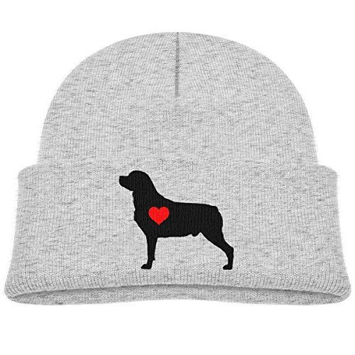 iuitt7rtree Rottweiler 15610 - Gorro de Invierno para bebé, diseño de corazón