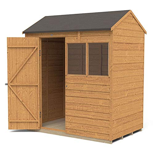 Forest Garden Overlap Dip Treated 6 x 4 Reverse Apex Shed