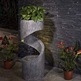 ⛲Durable Construction: Made of sturdy polyresin, stone and fiberglass with delicate craftsmanship, the fountain is in strong construction and weatherproof for long-lasting outdoor use and keep the fountain looking new over time. ⛲Unique Design: Rusti...