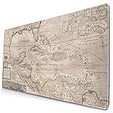 Mauspad Landkarte der Westindien Florida Mexiko und der Karibik Geografic Westindies Moll 1720, großes Mauspad, rutschfeste Gummiunterseite, 40 x 75 cm