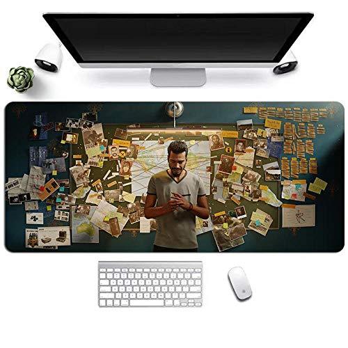 Rainbow Six Alfombrilla de ratón Grande Alfombrilla Gaming ratón láser, óptico XXL 900x400*3mm, Lavable, Base de Caucho para Gamers Ordenador, PC y Portátil-B_700*300 * 3MM