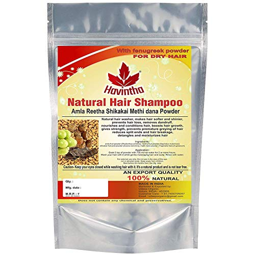 Havintha natural Haar shampoo mit amla, reetha, shikakai und methi dana (advanced shampoo)