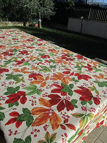PAGO POCO tafelkleed van geplastificeerd katoen, blad vierkant, 140 x 140 cm, 100% waterdicht, gemaakt in Italië.