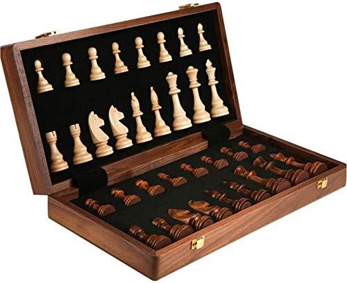 DJRH Ajedrez Internacional Plegable, Piezas de ajedrez Plegable de Tablero de ajedrez de Madera con Juego de Juegos para niños para niños y Adultos ( Size : X-Large )