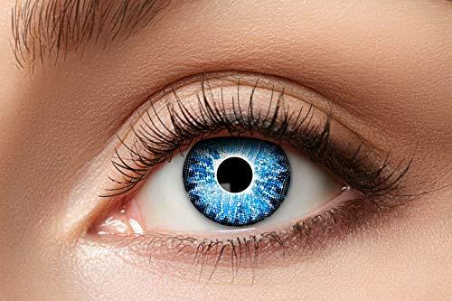 Zoelibat Natürlich Farbige Kontaktlinsen für 12 Monate, Ton83, 2 Stück, BC 8.6 mm / DIA 14.5 mm, Jahreslinsen in Markequalität, hellblau