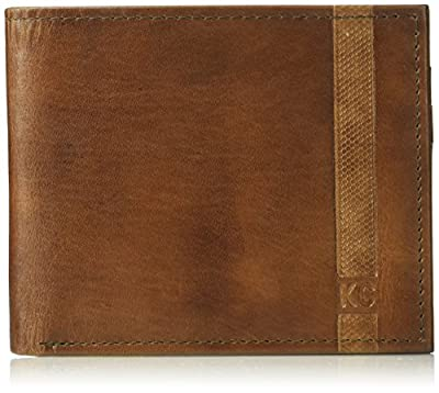 Kenneth Cole REACTION Men's RFID Security Blocking Slimfold Wallet, One Size, Marine/ White