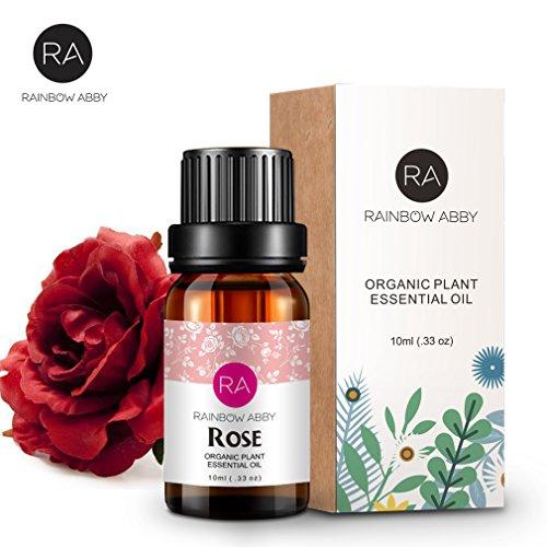 de aceite esencial de rosa Aceite de aromaterapia 100% puro para difusor, perfumes, masajes, cuidado de la piel, jabones, velas - 10 ml