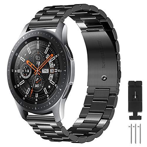 CAVN Armbänder Kompatibel mit Samsung Galaxy Watch 46mm / Galaxy Watch 3 45mm /Huawei GT 2 46mm, 22mm Edelstahl Metall Ersatzarmband Damen Herren Wristband Uhrenarmbänder für GT 2 /Honor Magic Watch