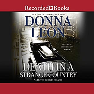 Death in a Strange Country audiobook cover art