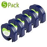 Fimax Kompatibel Etikettenband als Ersatz für Dymo Letratag lt-100h lt100h lt100t lt110t XR QX50 Label Makers