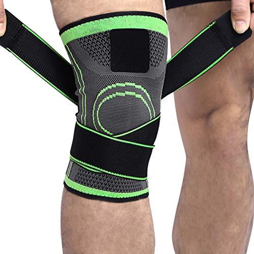 2 x Kniebandage für Damen & Männer | Zum Schutz von Meniskus & Knie | Elastische atmungsaktiv Knieschoner mit Kompression für mehr Stabilität beim Sport und im Alltag | Knieschützer (L(40-45CM))