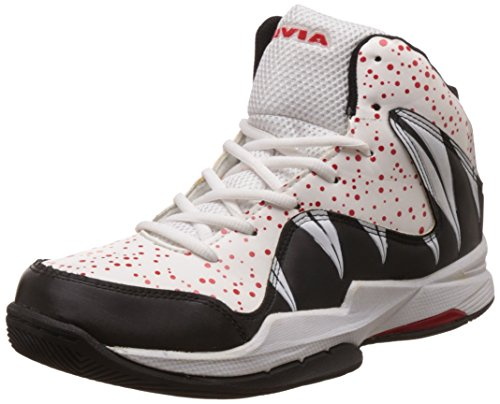Nivia Heat Basketball Shoes, UK 10 (Black/Grey)