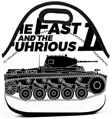 The Fast And The F & uuml; hrious Ii - Militärgeschichte Visualisierte Männer Frauen Kinder Isolierte Lunchpaket Tote Mehrweg-Lunchpaket Für die Arbeit Picknick-Schule