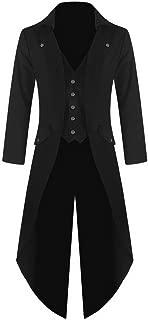 Chamarra para Hombre, Estilo gótico, Color Negro Steampunk